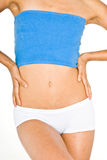 Tonned Stomach and thighs Royalty Free Stock Photo