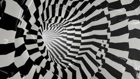Tonnel abstrato preto e branco repeatly ilustração stock