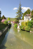 Tonnerre France. Tonnerre in the Morvan, Burgundy, France sits on the River Armancon. Famed for theTonnerre Fosse Dionne wash house Stock Image