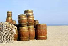 Tonnes d'harengs sur le côté de mer Photographie stock libre de droits