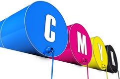 Tonnes de Cmyk Image libre de droits