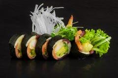 Tonno di color salmone del gamberetto Immagini Stock