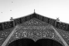 Tono blanco y negro de Wat Chiang Man Fotografía de archivo libre de regalías