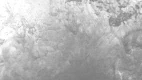 Tono blanco y negro La explosión de la acuarela en agua Fondo abstracto de la acuarela almacen de video