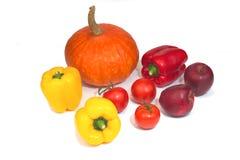 Tono caldo delle verdure organiche dell'assortimento Fotografia Stock Libera da Diritti
