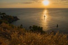Tono caliente de la puesta del sol Foto de archivo libre de regalías