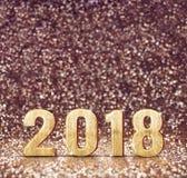 Tono del filtro del vintage de la representación 3d de la Feliz Año Nuevo 2018 en el balneario stock de ilustración