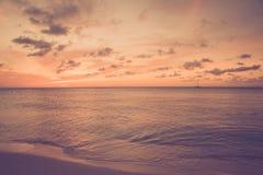 Tono del vintage de la escena de la playa Imagen de archivo