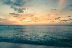 Tono del vintage de la escena de la playa Fotografía de archivo