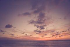 Tono del vintage de la escena de la playa Fotos de archivo libres de regalías