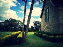 Tono del vintage de Lord Egerton Castle, Nakuru, Kenia fotografía de archivo