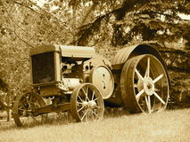 Tono di John Deere Tractor In Sepia Immagine Stock