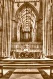 Tono di seppia di HDR dell'altare di York Minster Fotografie Stock