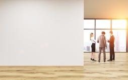 Tono en blanco de la pared de la oficina stock de ilustración