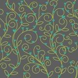 Tono floral inconsútil del verde de la tela del corazón Fotografía de archivo