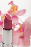 Tono hermoso del lápiz labial rojo moderno Fotografía de archivo