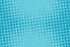 Tono medio azul cómico retro de la pendiente de la trama del fondo stock de ilustración
