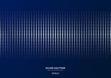 Tono medio de plata abstracto del modelo de puntos en estilo azul marino del lujo del fondo ilustración del vector