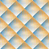 Tono medio de punteado blanco y negro inconsútil Dot Work Pattern Abstract Background de la pendiente del Rhombus del vector Fotografía de archivo libre de regalías