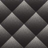 Tono medio de punteado blanco y negro inconsútil Dot Work Pattern de la pendiente del Rhombus del vector Imagen de archivo