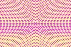 Tono medio punteado rosa amarillo Radial frecuente la pendiente punteada Fondo del tono medio ilustración del vector
