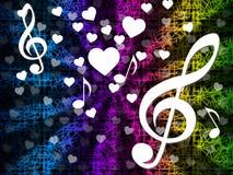 Tono Melody And Harmony de los medios del fondo de la música Foto de archivo