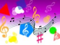 Tono o instrumentos de la canción de las demostraciones del fondo de la música Fotos de archivo libres de regalías