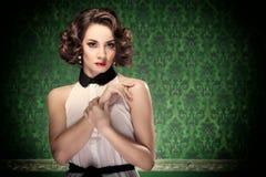 Tono pasado de moda del vintage de la mujer Foto de archivo