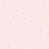 Tono rosado inconsútil del color con el modelo del corazón Fotos de archivo libres de regalías
