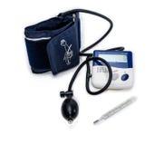 Tonometer elettronico e termometro medico fotografia stock