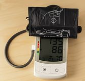 Tonometer for measuring the arterial pressure of a sick person royalty free stock photography