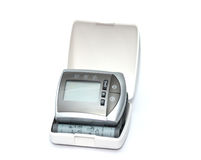 Tonometer for measuring blood pressure on a white background Royalty Free Stock Photo