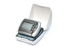 Tonometer for measuring blood pressure on a white background Royalty Free Stock Photos