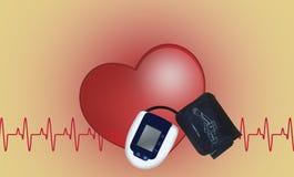Tonometer, un dispositif médical pour mesurer la pression Image libre de droits