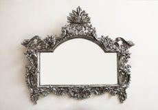 Tonos calientes del marco de plata Foto de archivo libre de regalías