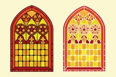 Tonos calientes del vitral Imagenes de archivo