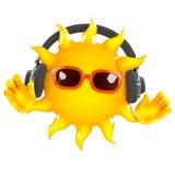 tonos de 3d Sun Foto de archivo libre de regalías