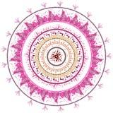 Tonos rosados de la mandala en el fondo blanco Imagenes de archivo