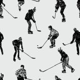 Tonåringar som spelar hockey Royaltyfri Bild