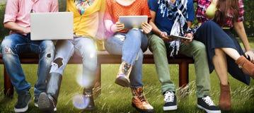 Tonåringbarn Team Together Cheerful Concept Royaltyfria Bilder
