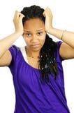 tonårs- frustrerad flicka Royaltyfri Bild