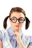 tonårs- tanke för geek Royaltyfri Fotografi