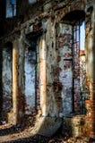 Tons abandonnés de HDR d'usine de brique Photo stock