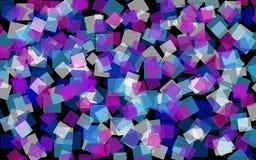 Tons bleus abstraits et fond carré Images libres de droits