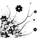 Tons of flowers. Floral design with tons of spring flowers stock illustration
