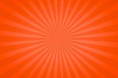 Tons lumineux oranges dans un amusement Starburst Image stock