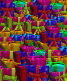 Tons Of Presents. Background made out of lots of gifts and presents Stock Image