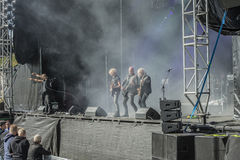 Tons of Rock 2014, Blaze Bayley band. Photo shot on the first day of Tons of Rock festival at Fredriksten fortress in Halden, Norway and shows: Blaze Bayley band Royalty Free Stock Photos