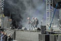Tons of Rock 2014, Blaze Bayley band Royalty Free Stock Photos