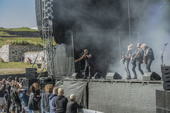 Tons of Rock 2014, Blaze Bayley band. Photo shot on the first day of Tons of Rock festival at Fredriksten fortress in Halden, Norway and shows: Blaze Bayley band Stock Photos
